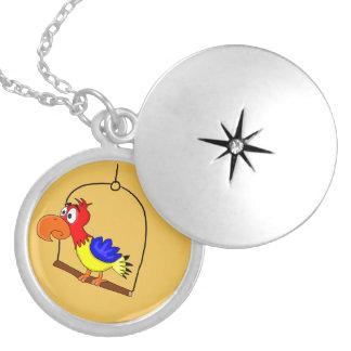 Macaw design custom lockets