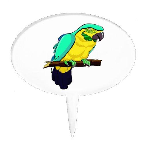 Macaw en rama figura para tarta