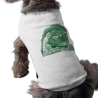 macaw head view graphic green outline parrot T-Shirt
