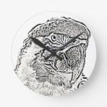 macaw head view graphic outline parrot