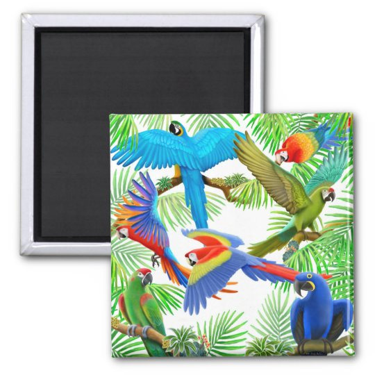 Macaw Jungle Magnet