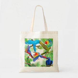 Macaw Jungle Tote Bag