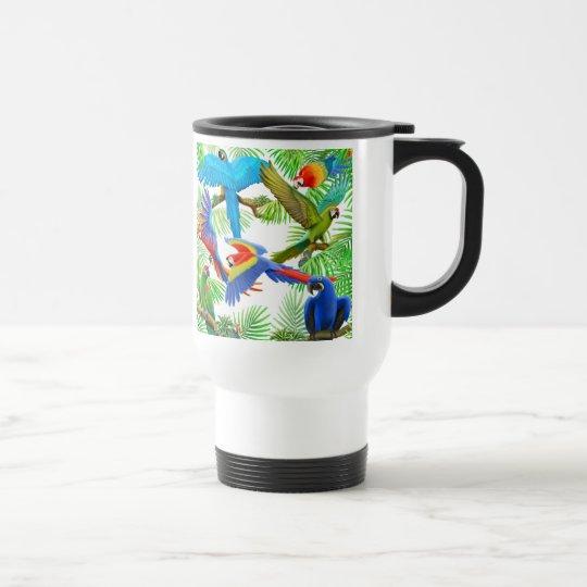 Macaw Jungle Travel Mug