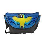 Macaw/loro del dibujo animado bolsas de mensajeria
