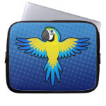 Macaw/loro del dibujo animado funda computadora