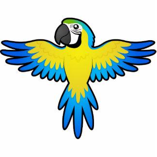 Macaw/loro del dibujo animado imán fotoescultura