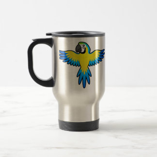 Macaw/loro del dibujo animado taza térmica