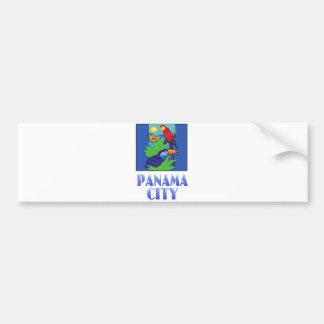 Macaw, loro, mariposa y selva CIUDAD DE PANAMÁ Pegatina Para Auto