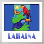 Macaw, loro, mariposa y selva LAHAINA Impresiones