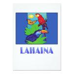 Macaw, loro, mariposa y selva LAHAINA Invitación 12,7 X 17,8 Cm