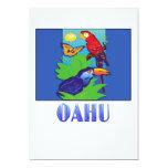 Macaw, loro, mariposa y selva OAHU Invitación 12,7 X 17,8 Cm