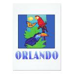 Macaw, loro, mariposa y selva ORLANDO Invitación 12,7 X 17,8 Cm