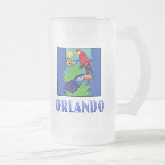 Macaw, loro, mariposa y selva ORLANDO Taza