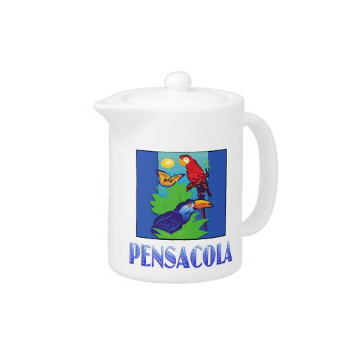 Macaw, loro, mariposa y selva PENSACOLA