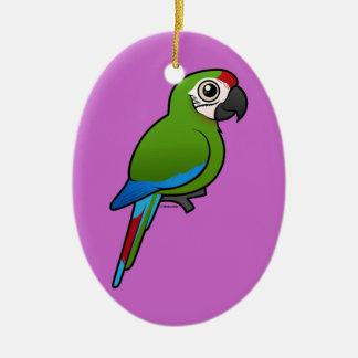 Macaw militar adorno ovalado de cerámica