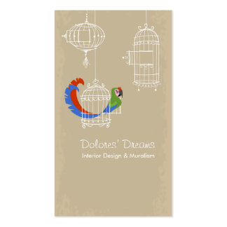 Macaw militar tarjetas de visita