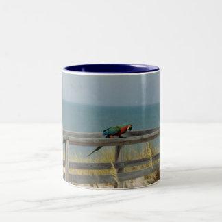 Macaw  (Mug) Two-Tone Coffee Mug