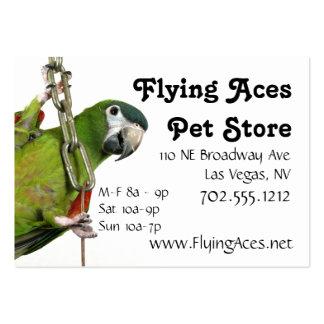 Macaw noble miniatura tarjetas de visita grandes