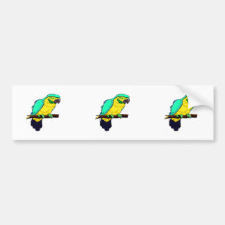 Macaw On Branch Bumper Sticker