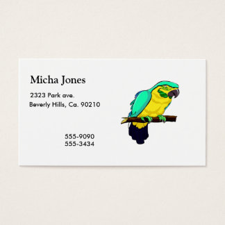 Macaw On Branch Business Card