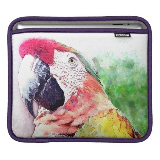 Macaw Painting iPad and MacBook Sleeve