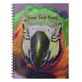 Macaw Parrot Bird Face Animal Spiral Notebook