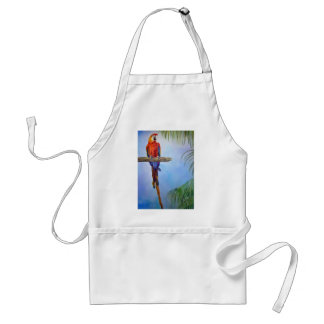 MACAW Parrot Bird Tropical Beach Theme Painting Adult Apron