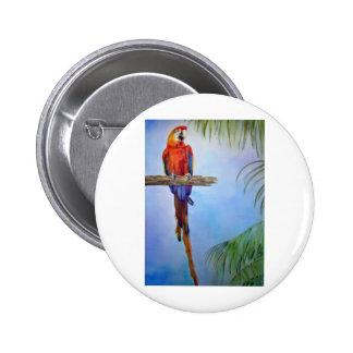 MACAW Parrot Bird Tropical Beach Theme Painting Pin