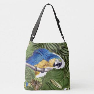 Macaw Parrot Bird Wildlife Animals Leaves Tote Bag