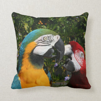 Macaw Parrot Bird Wildlife Animals Throw Pillow