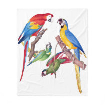 Macaw Parrot Birds Wildlife Animals Fleece Blanket
