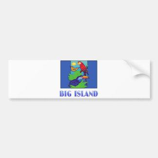 Macaw, Parrot, Butterfly & Jungle BIG ISLAND Bumper Sticker