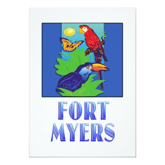 Macaw, Parrot, Butterfly & Jungle FT MYERS Card