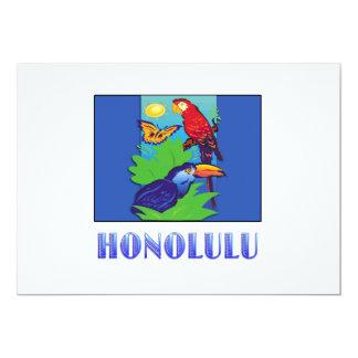 Macaw, Parrot, Butterfly, & Jungle HONOLULU Card
