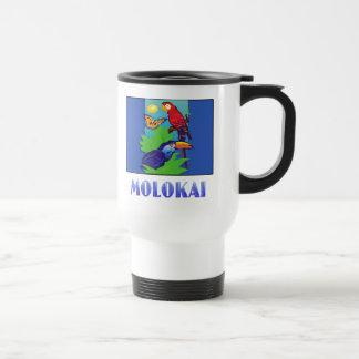 Macaw, Parrot, Butterfly & Jungle MOLOKAI Coffee Mugs