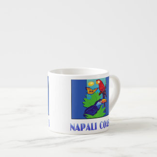 Macaw, Parrot, Butterfly & Jungle NAPALI COAST Espresso Cup