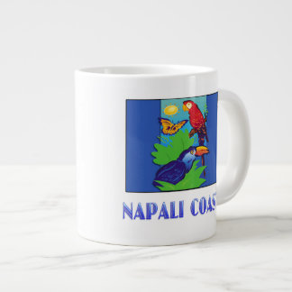 Macaw, Parrot, Butterfly & Jungle NAPALI COAST Giant Coffee Mug