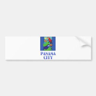 Macaw Parrot Butterfly Jungle PANAMA CITY Bumper Stickers
