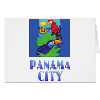 Macaw, Parrot, Butterfly & Jungle PANAMA CITY Greeting Card