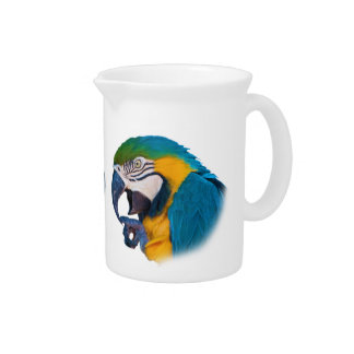 Macaw Parrot, Customizable Pitcher