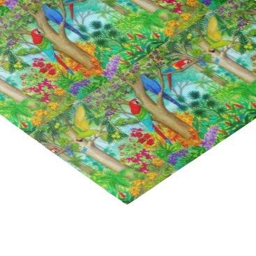Macaw Parrot Jungle Art Tissue Paper