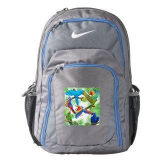 Macaw Parrot Jungle Nike Backpack