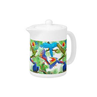 Macaw Parrot Jungle Teapot