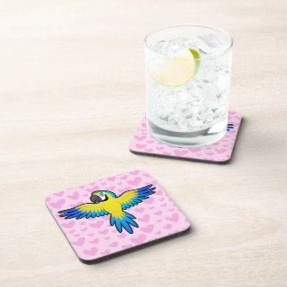 Macaw / Parrot Love Beverage Coaster