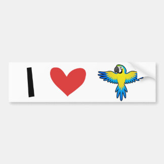 Macaw / Parrot Love Bumper Sticker