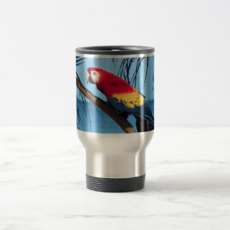 Macaw Parrot 15 Oz Stainless Steel Travel Mug