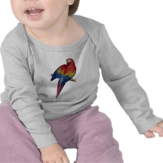 Macaw Parrot Red Yellow Blue Green Bird Shirt