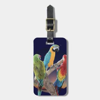 Macaw Parrots Bag Tags