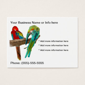 Macaw Parrots Birds Business Cards