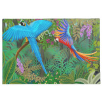 Macaw Parrots in Jungle Doormat